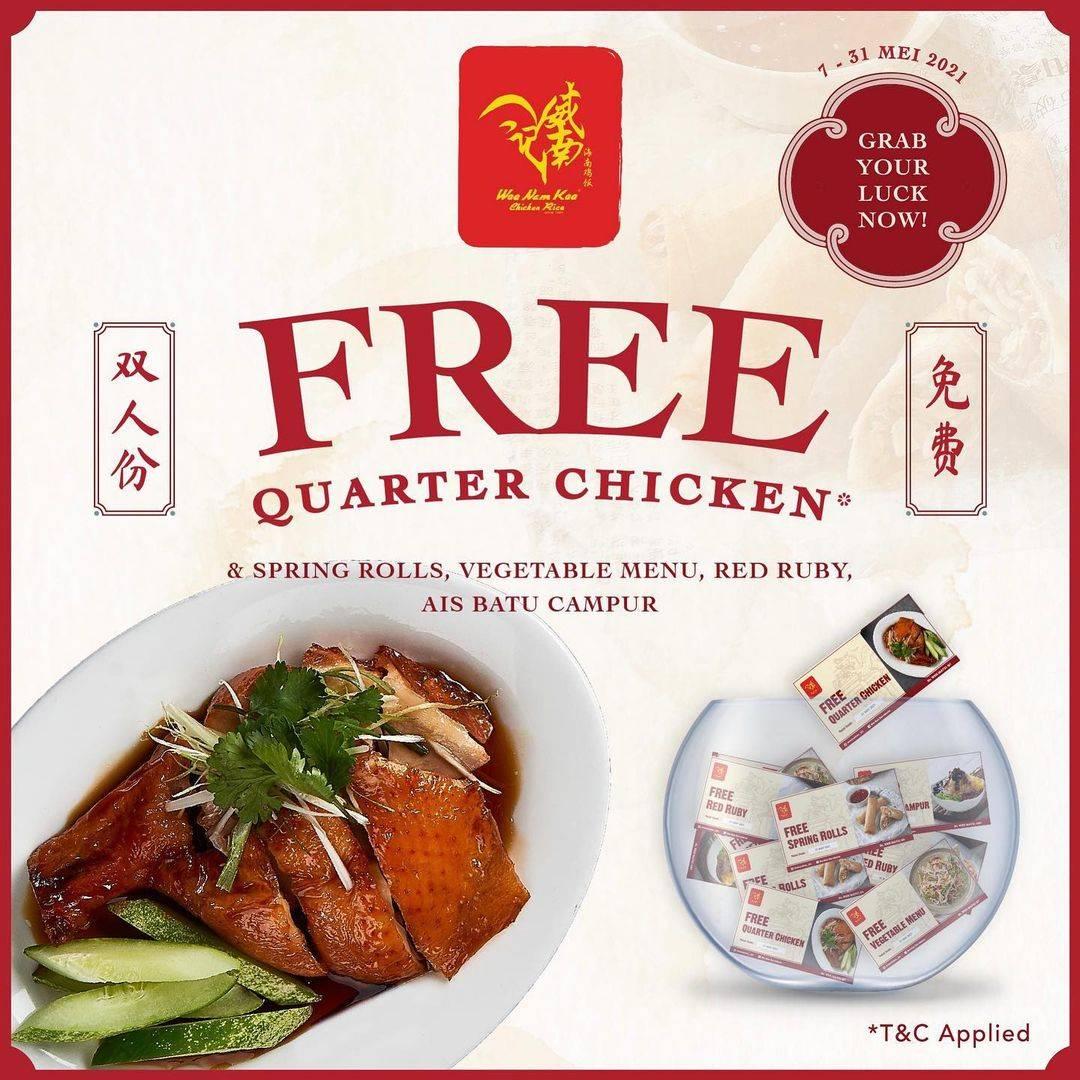 Diskon Wee Nam Kee Free Quarter Chicken