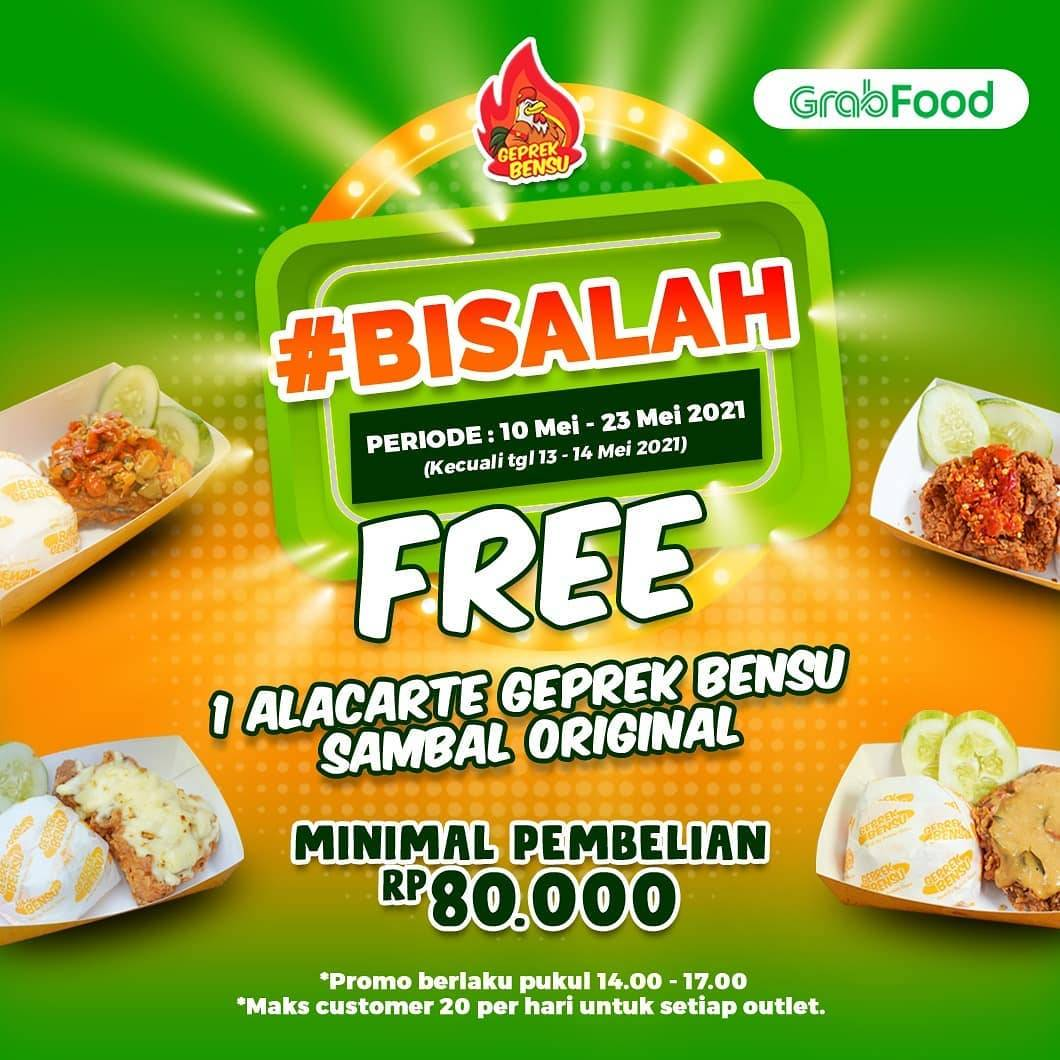 Diskon Geprek Bensu Free 1 A la Carte Sambal Original