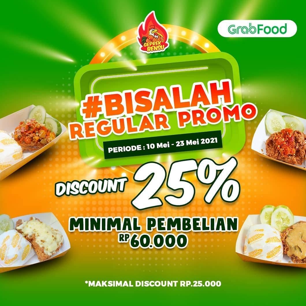 Diskon Geprek Bensu Discount 25% Off On GrabFood