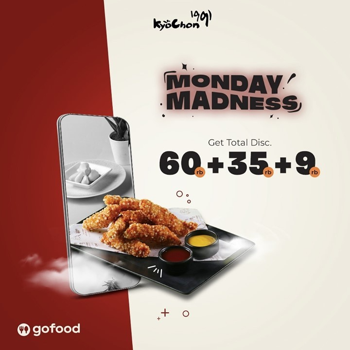 Promo diskon Kyochon Monday Madness Get Discount Rp. 104.000 On GoFood
