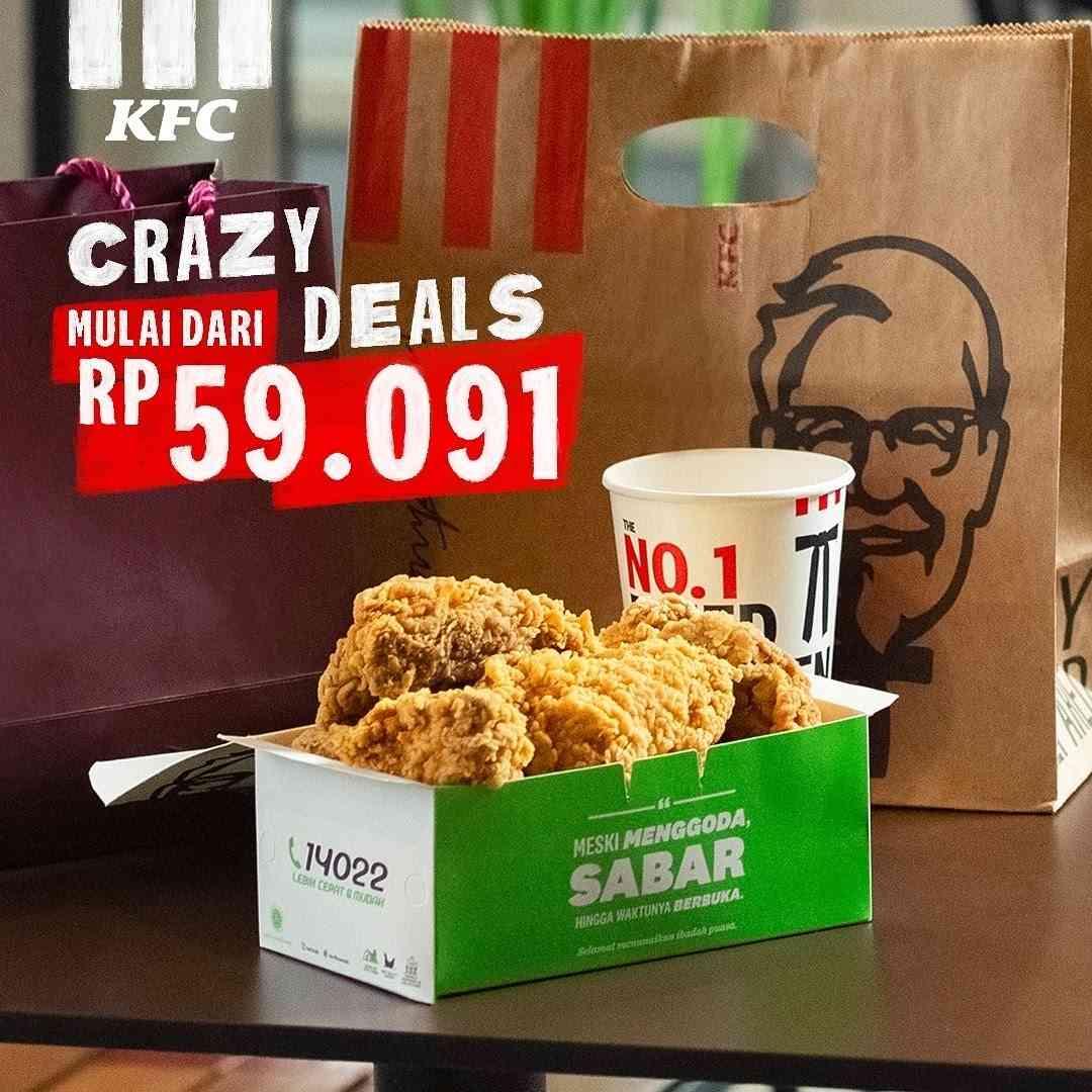 Diskon KFC Promo Crazy Deals Mulai Dari Rp. 59.091
