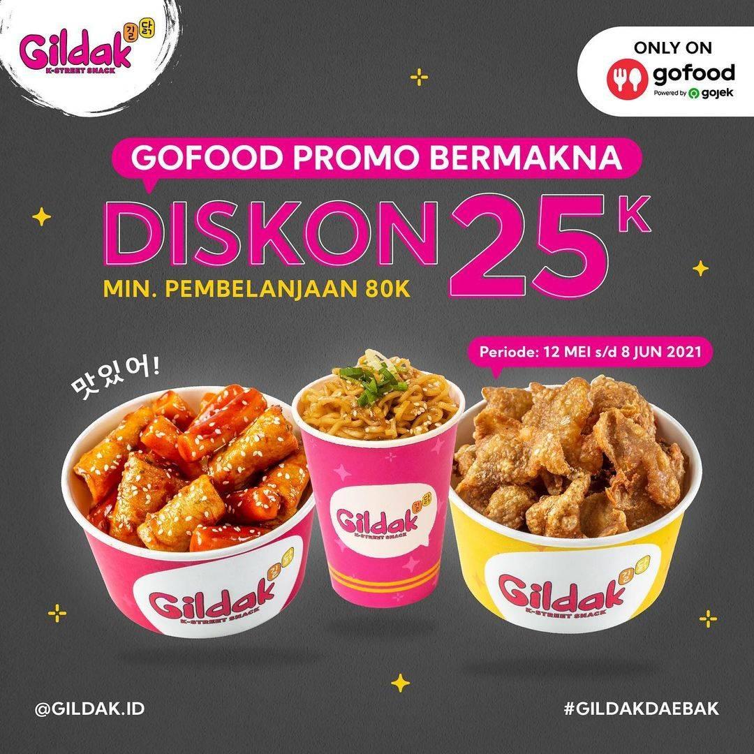 Diskon Gildak Diskon Rp. 25.000 Dengan GoFood