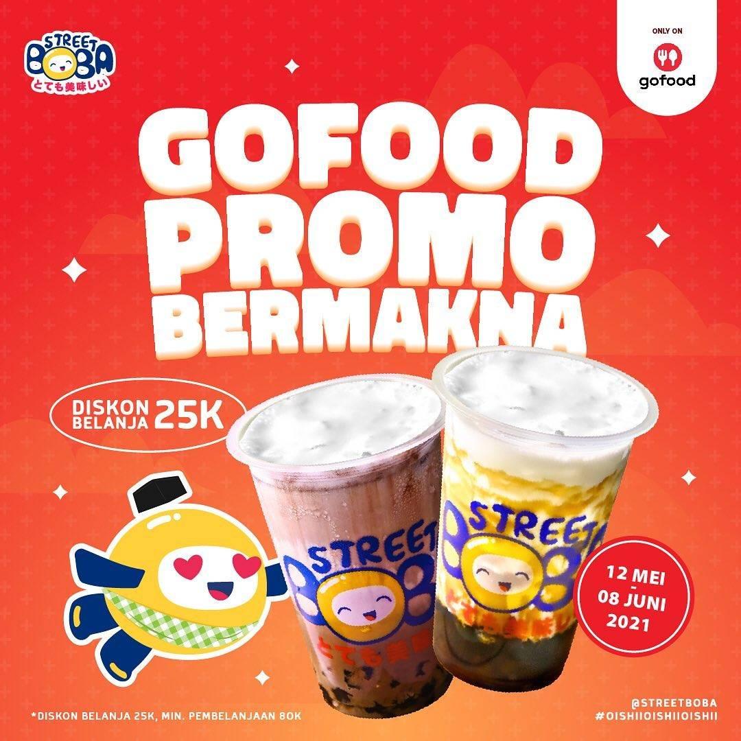 Diskon Street Boba Diskon Rp. 25.000 Dengan GoFood