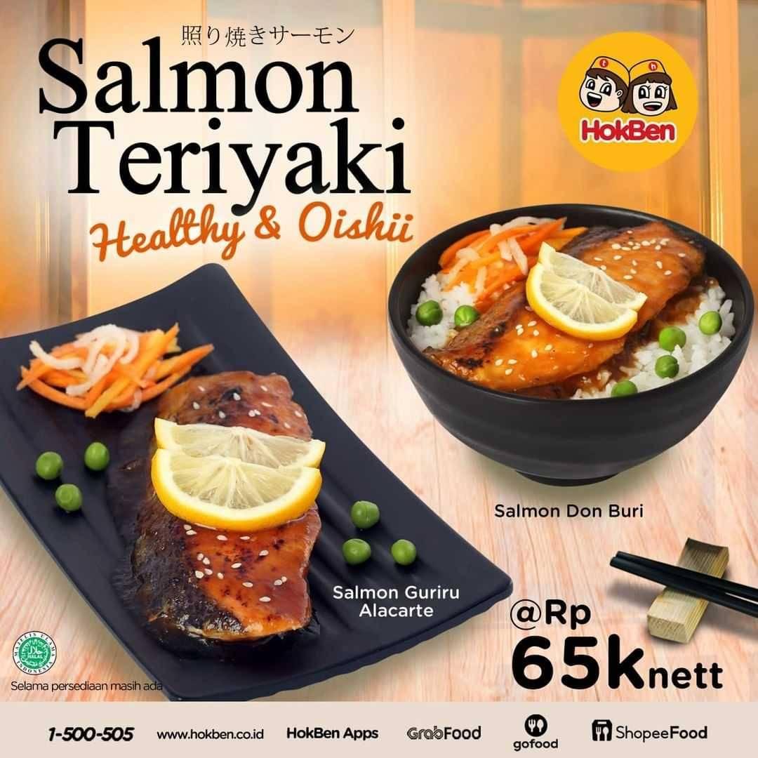 Diskon Hokben Promo Salmon Teriyaki Hanya Rp. 65.000 /nett