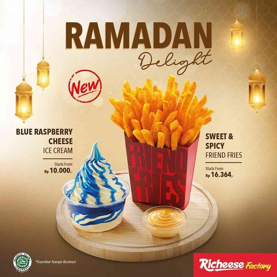 Diskon Richeese Factory Promo Ramadan Delight Blue Raspberry Ice Cream