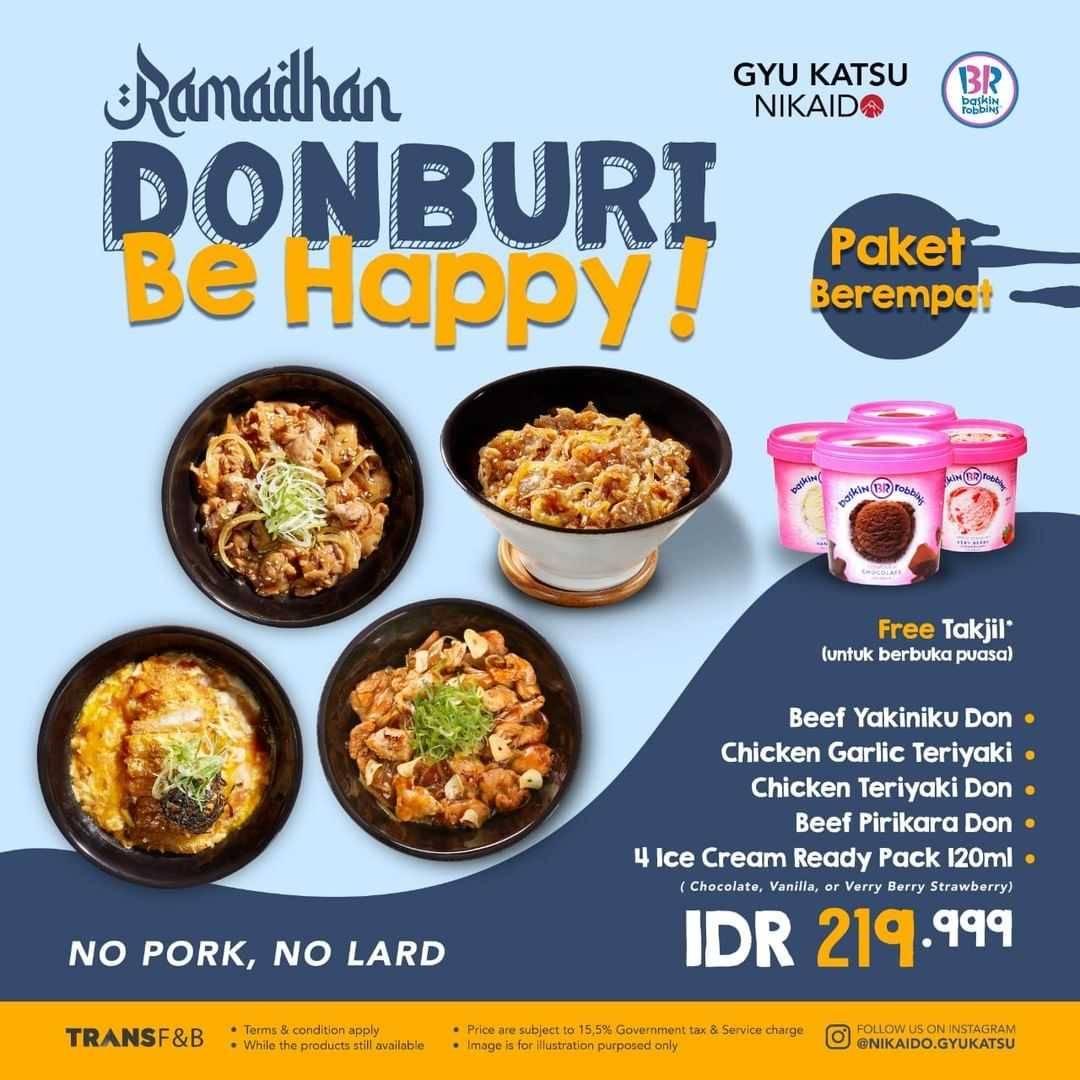 Promo diskon Gyukatsu Nikaido Promo Ramadhan Donburi Be Happy