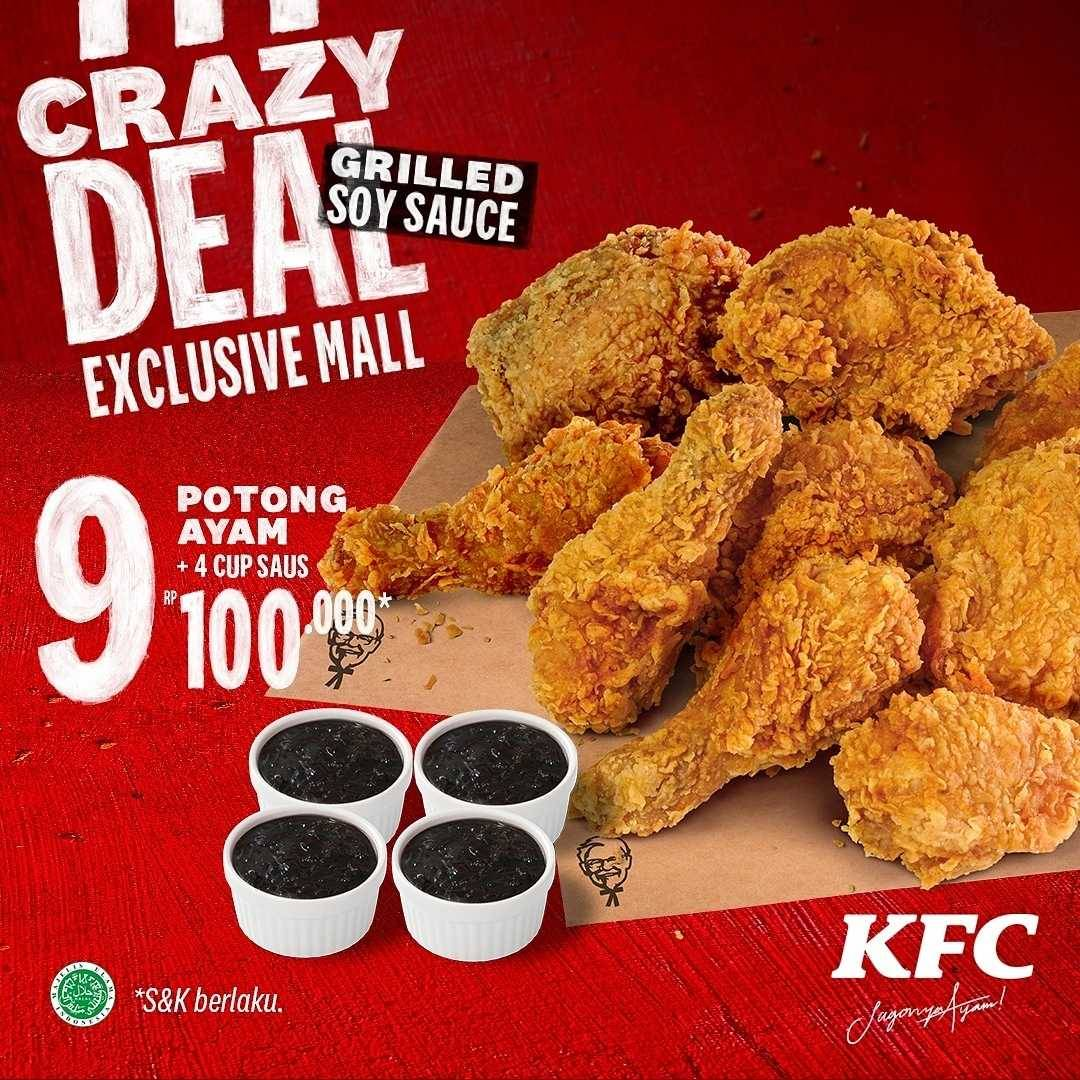 Promo diskon KFC Promo Crazy Deals Exclusive Mall Start From Rp. 63.636