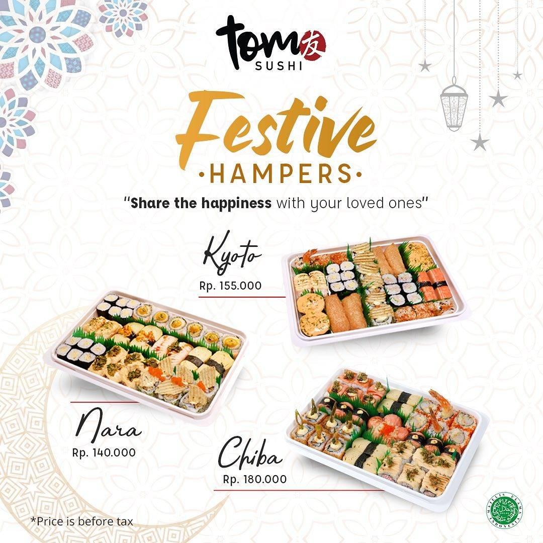 Diskon Tom Sushi Promo Festive Hampers Start From Rp. 140.000