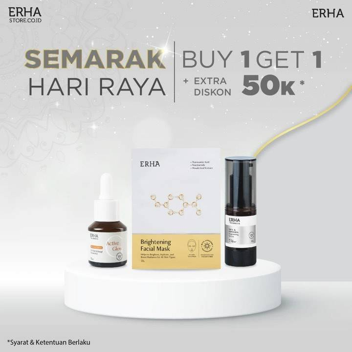 Diskon Erha Promo Semarak Hari Raya Buy 1 Get 1 Free + Extra Discount 50k