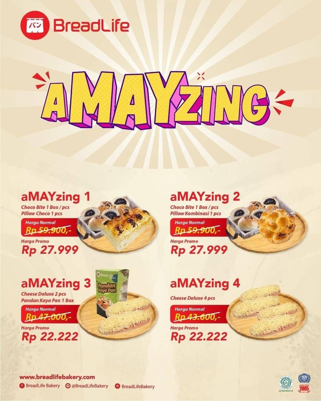 Diskon Breadlife Promo aMAYzing Package Rp. 22.222