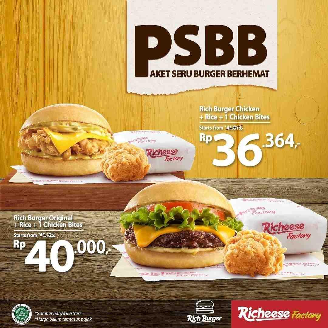 Diskon Richeese Factory Promo Paket Seru Burger Berhemat
