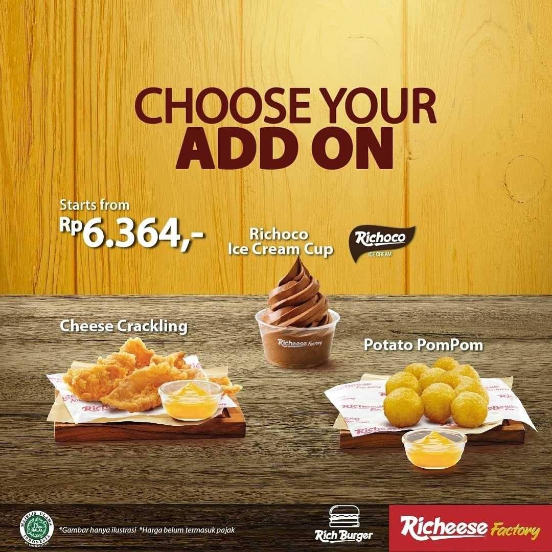 Promo diskon Richeese Factory Promo Paket Seru Burger Berhemat