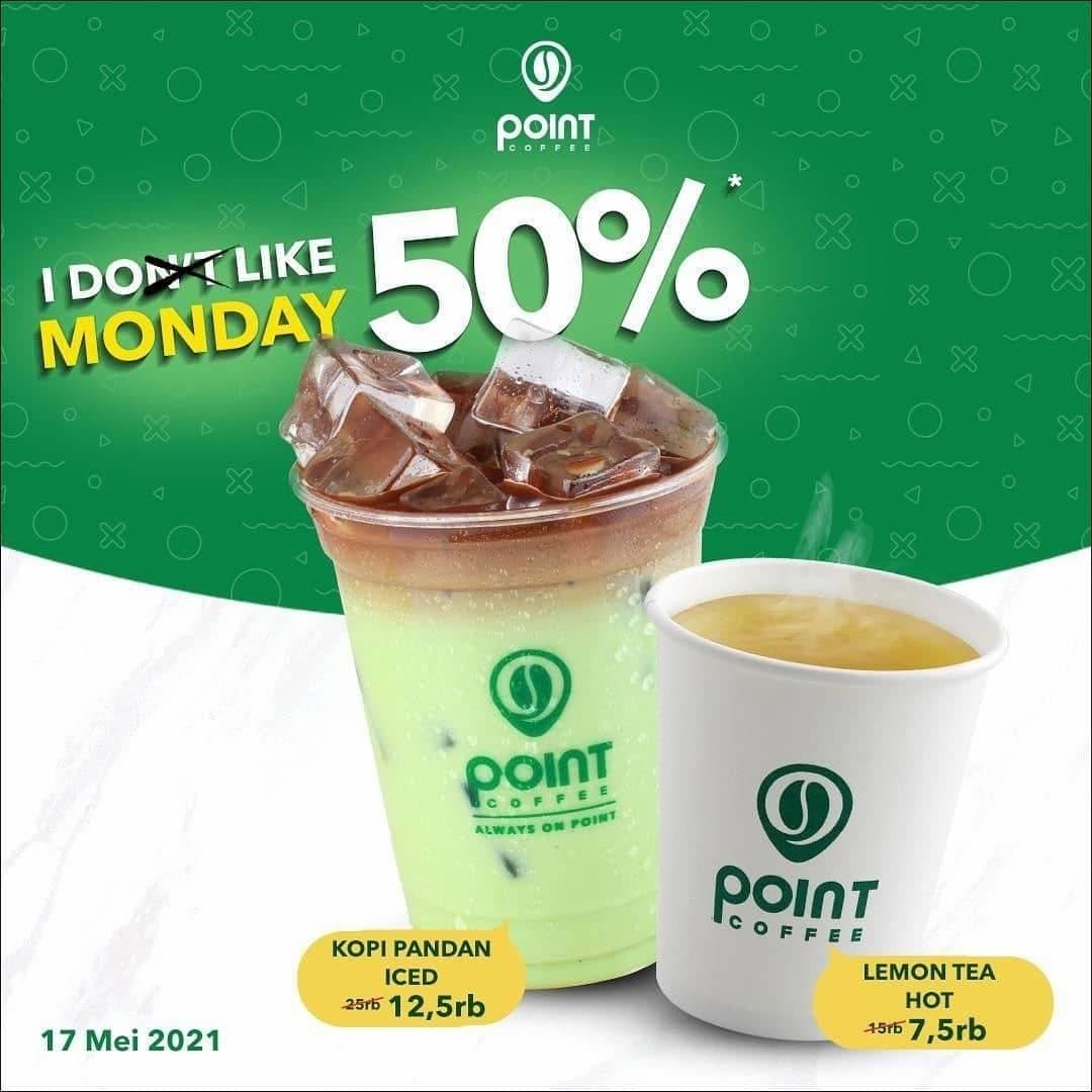 Diskon Point Coffee Promo Diskon 50% Morning Coffee & Tea