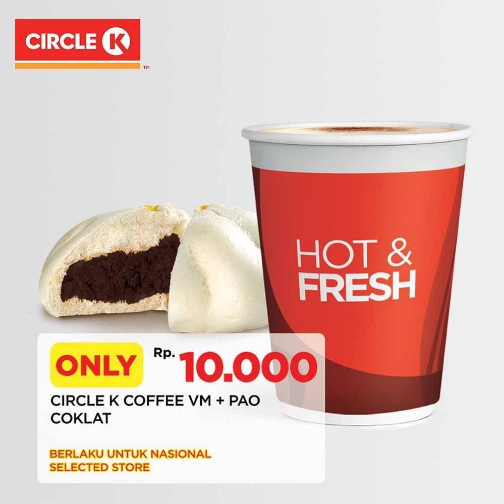 Diskon Circle K Promo Pao Cokelat + Coffee VM Only For Rp. 10.000