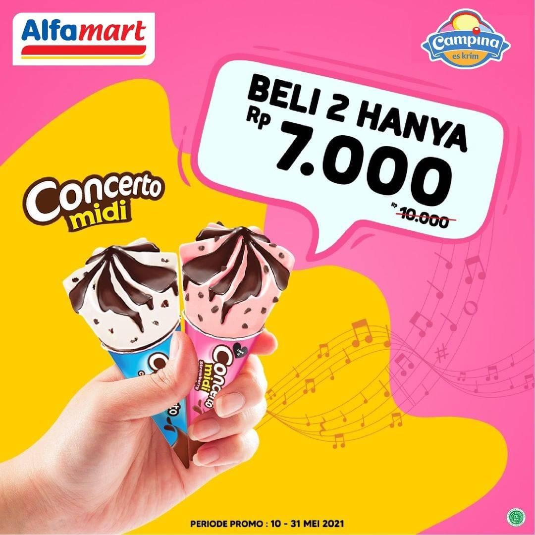 Diskon Alfamart Beli 2 Concerto Midi Hanya Rp. 7.000