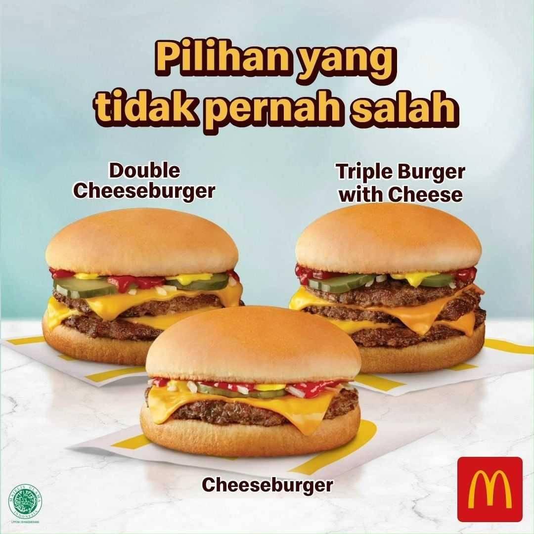 Diskon McDonalds Promo Paket Hemat Banget  Cheeseburger Hanya Rp. 34Ribuan