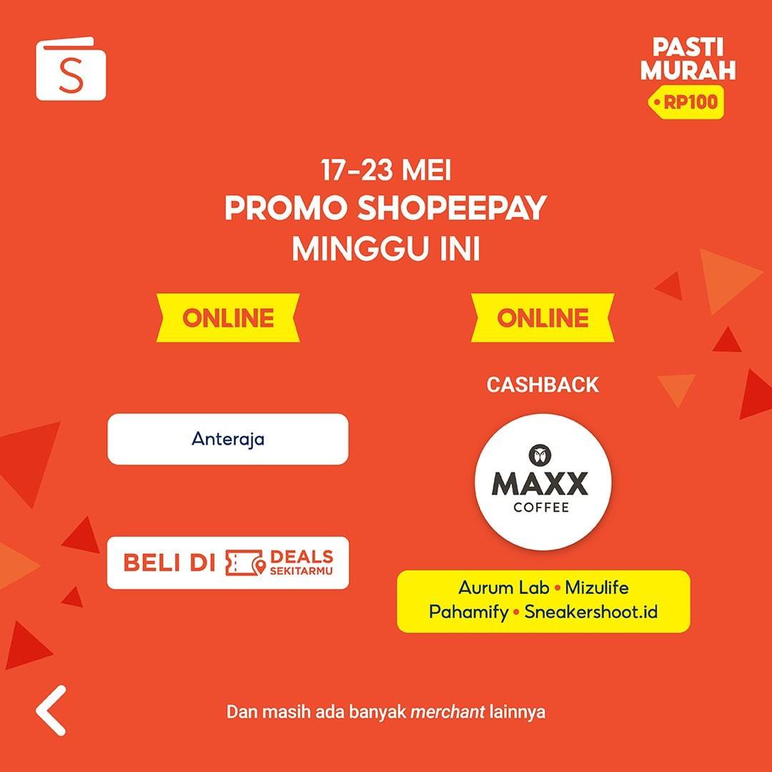 Promo diskon Shopeepay Cashback Hingga 80% Di Merchant Pilihan