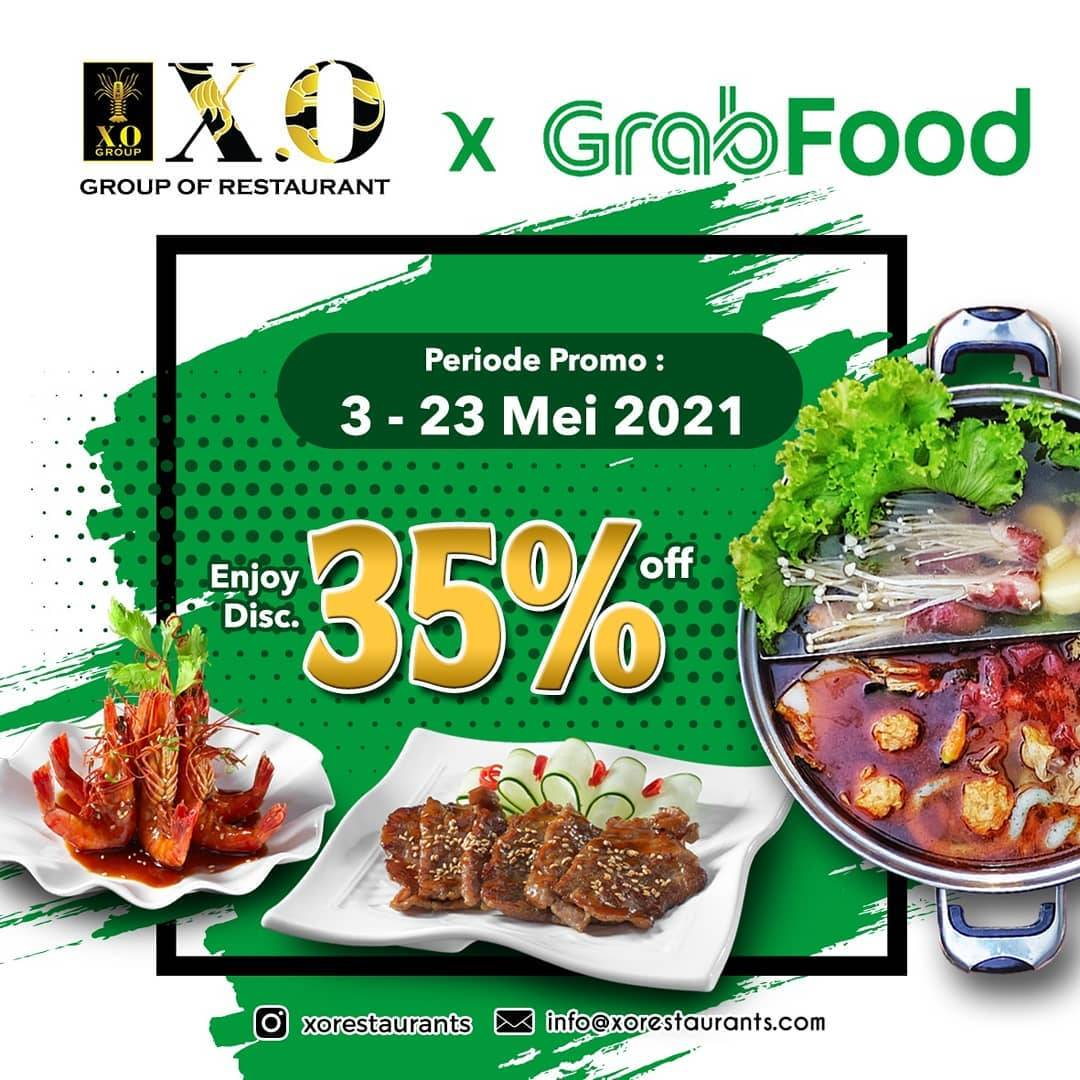 Diskon X.O Discount Up To 35% Off On GrabFood