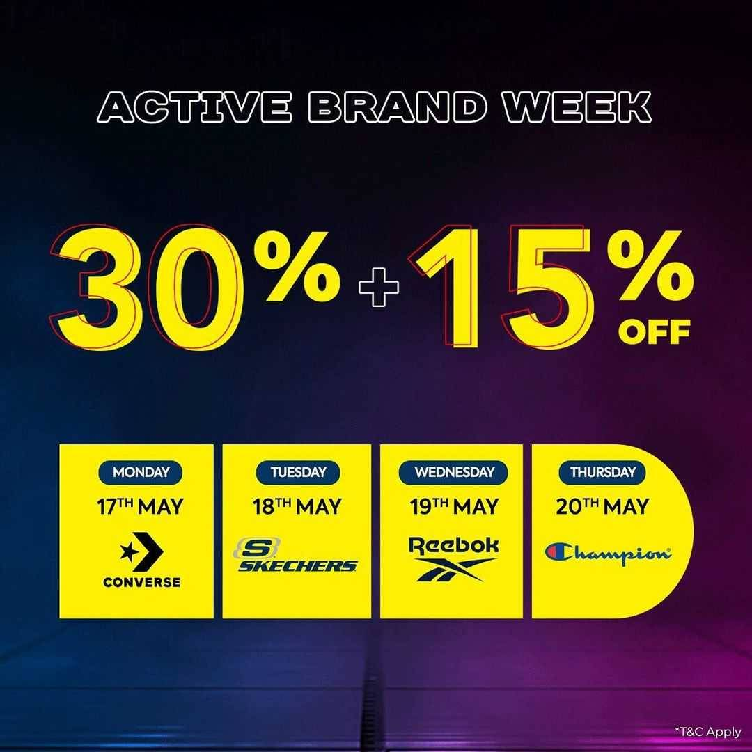 Promo diskon Planet Sports Active Brand Day Discount 35% + 15% Off
