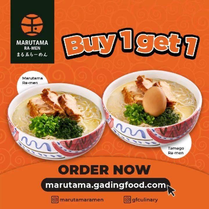 Diskon Marutama Ramen Buy 1 Get 1 Free