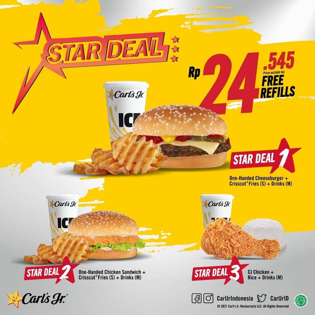 Diskon Carls Jr Promo Star Deal Hanya Rp. 24.545