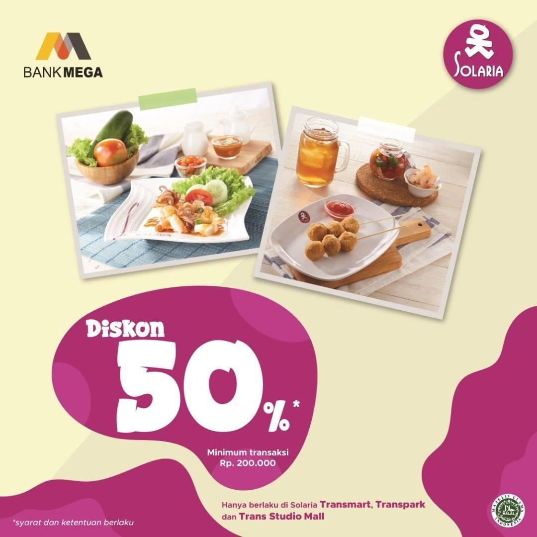Diskon Solaria Diskon 50% Dengan Kartu Kredit Bank Mega