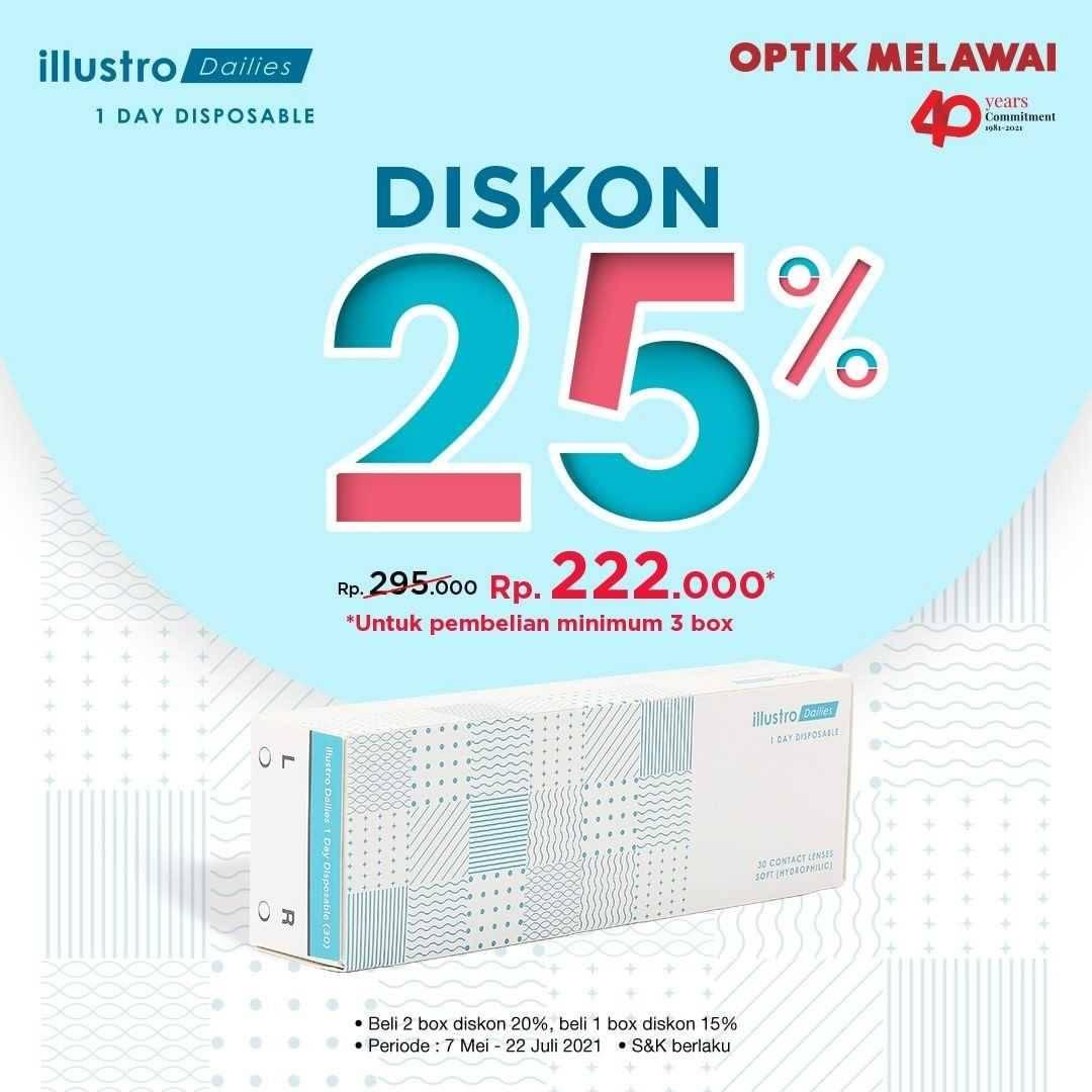 Promo diskon Optik Melawai Gratis 1 Box Lensa Kontak Brand Pilihan