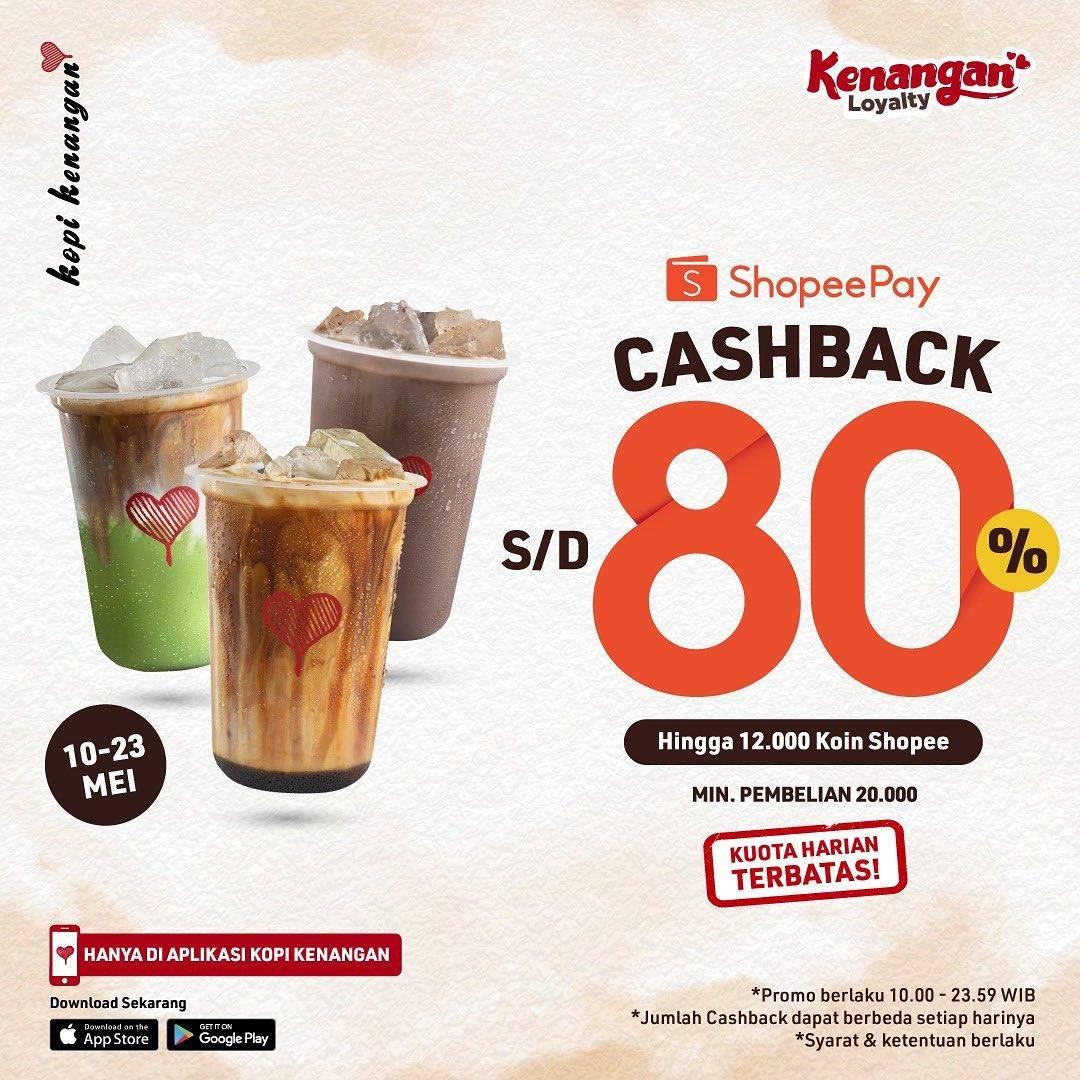 Diskon Kopi Kenangan Cashback Hingga 80% Dengan Shopeepay
