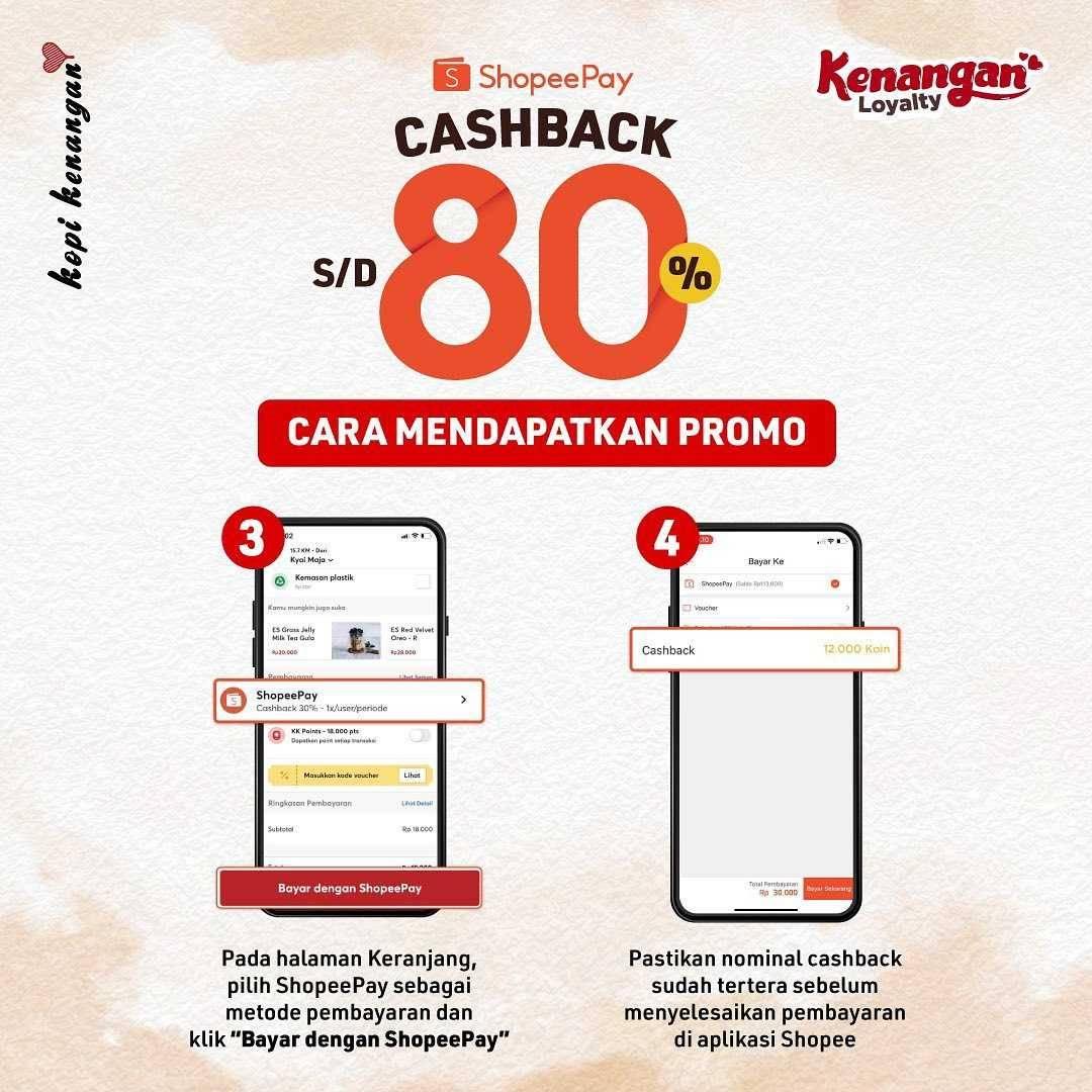 Promo diskon Kopi Kenangan Cashback Hingga 80% Dengan Shopeepay