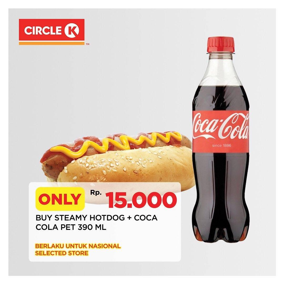 Diskon Circle K Promo Hotdog + Coca Cola 390ml Hanya Rp. 15.000