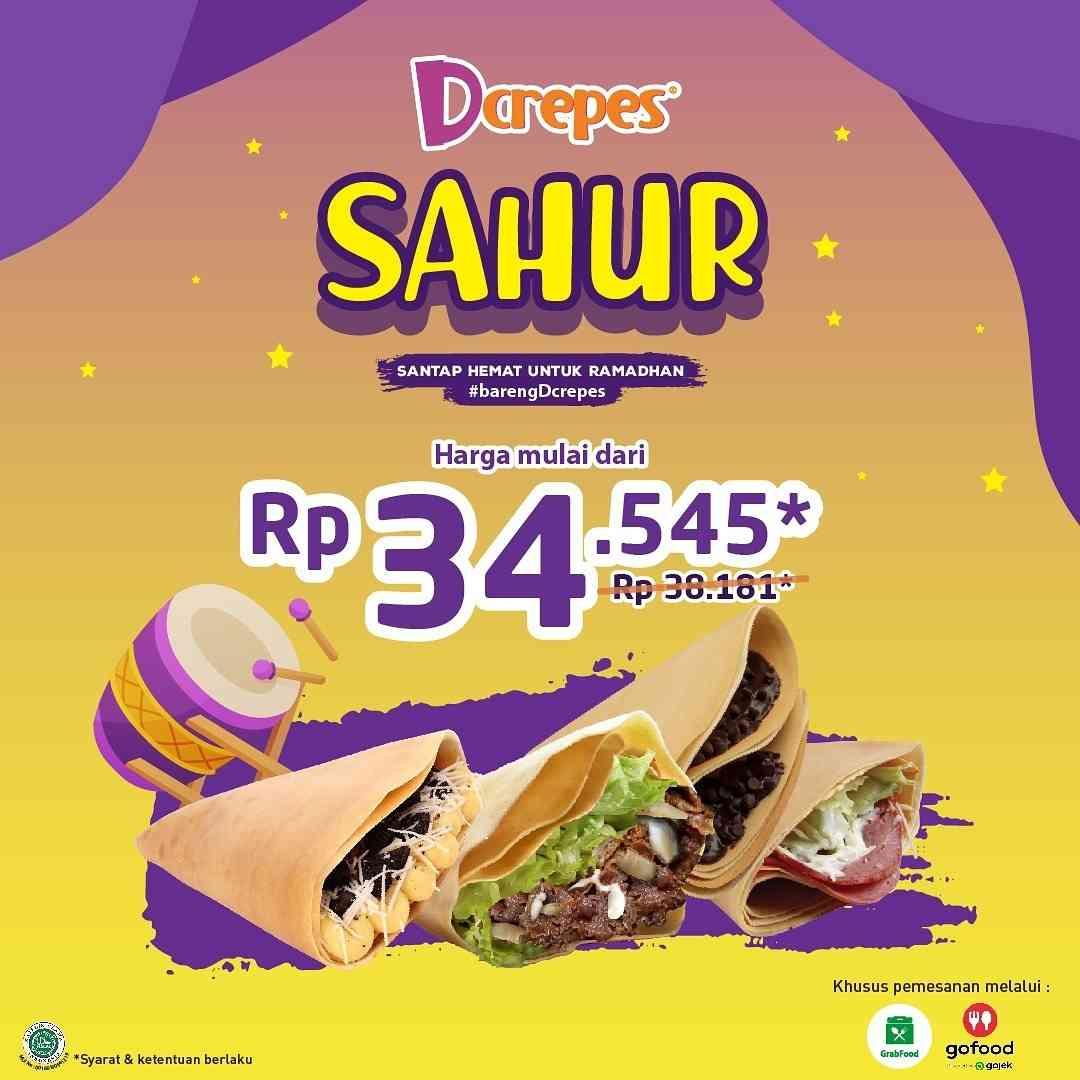 Diskon DCrepes Promo Sahur
