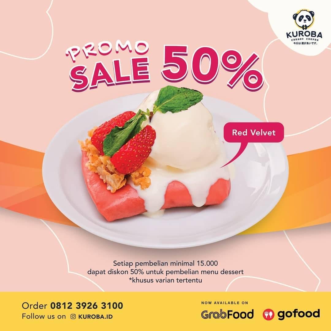 Diskon Kuroba Sale 50% Untuk Menu Dessert Creamy Crepes.