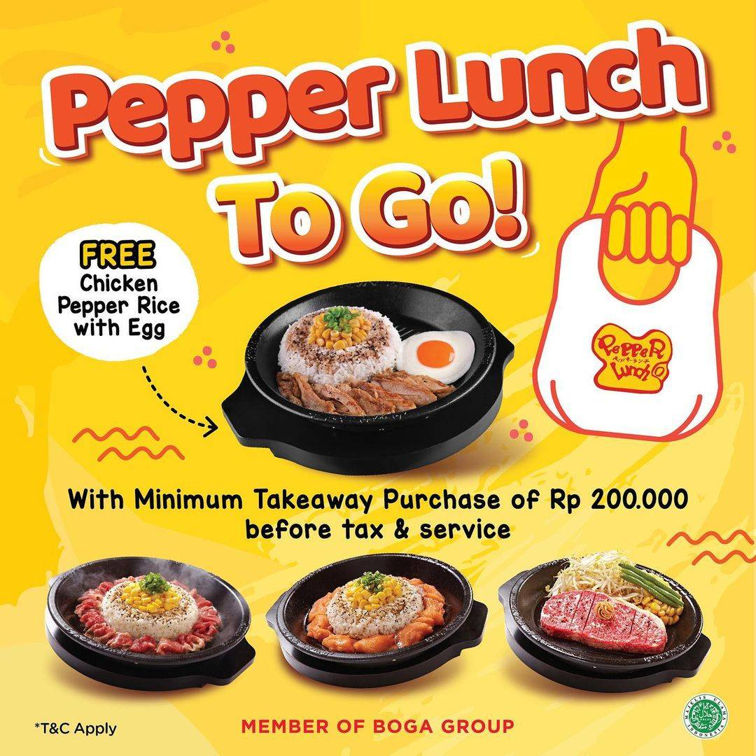 Diskon Pepper Lunch Promo Pepper Lunch To Go Free Chicken Pepper Rice With Egg