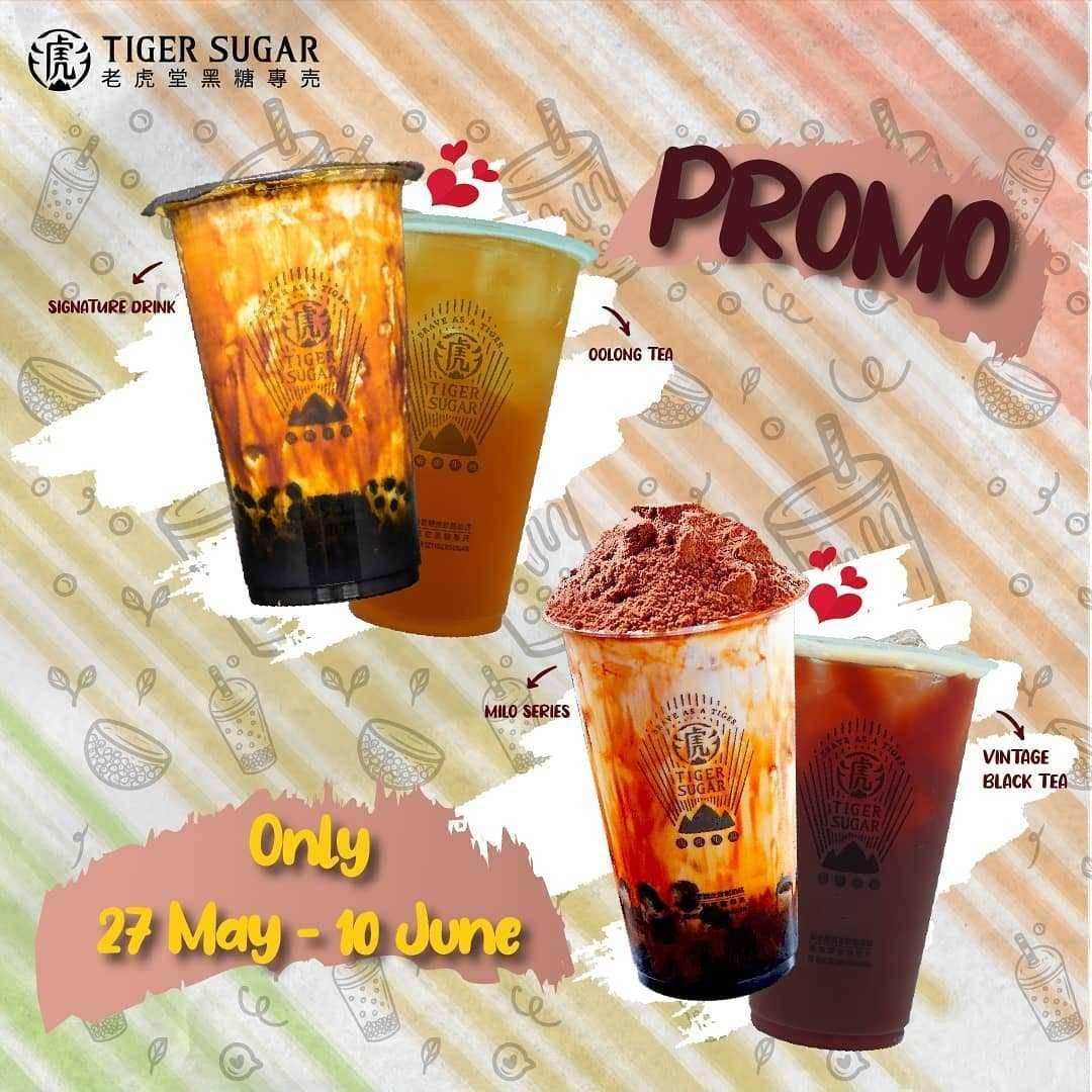 Promo diskon Tiger Sugar Buy 1 Get 1 Free Beverages