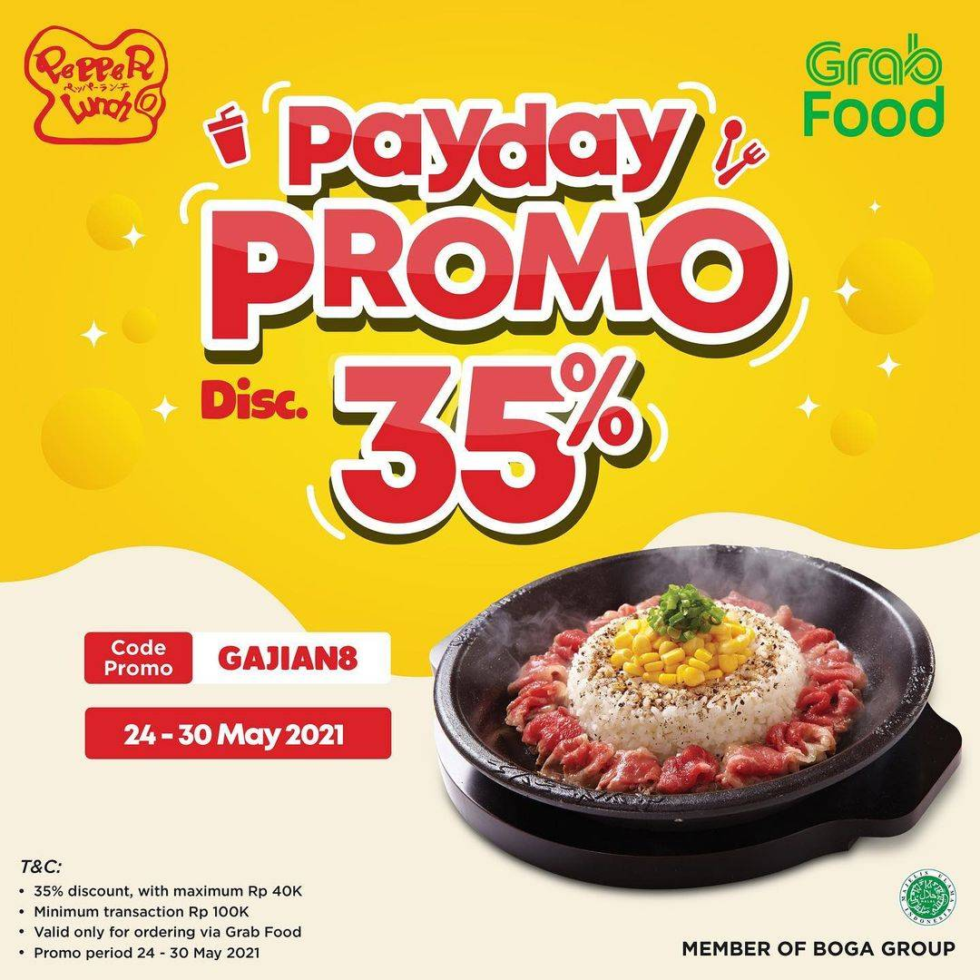 Diskon Pepper Lunch Payday Promo Discount 35% Off On GrabFood