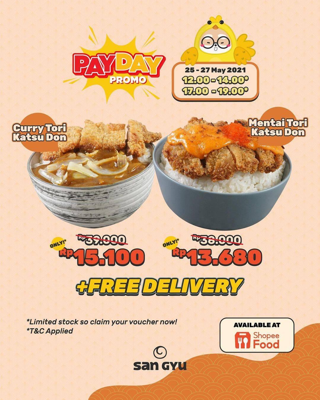 Diskon San Gyu Payday Promo Menu Katsu Don Series