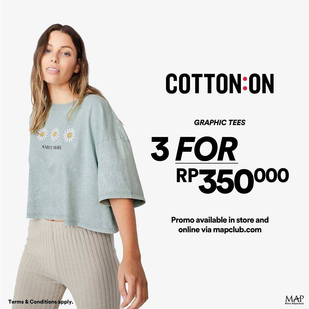 Promo diskon Cotton On Buy 1 Get Discount 50% Off On 2nd Item