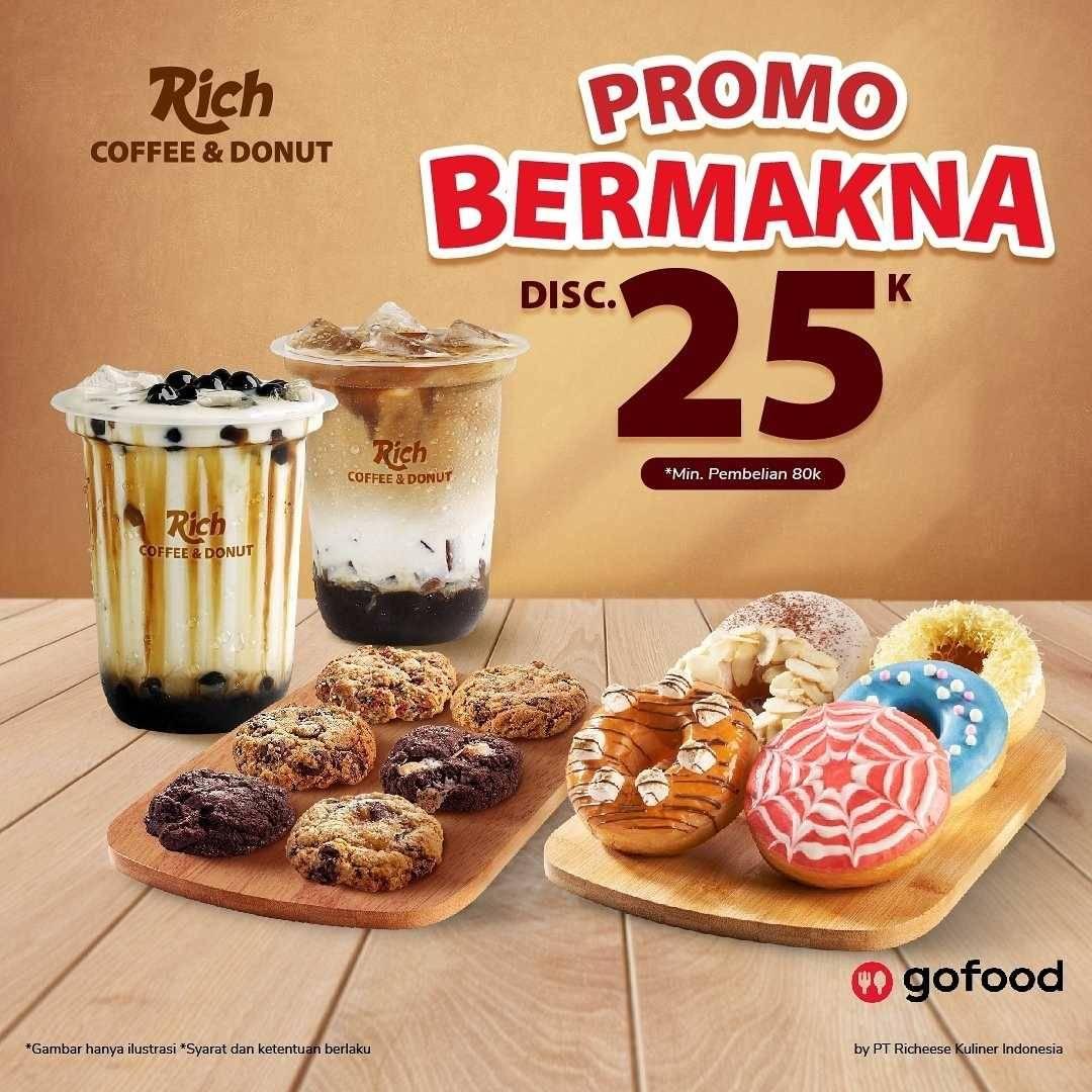 Promo diskon Richeese Factory Promo Bermakna Discount Rp. 25.000 Dengan GoFood