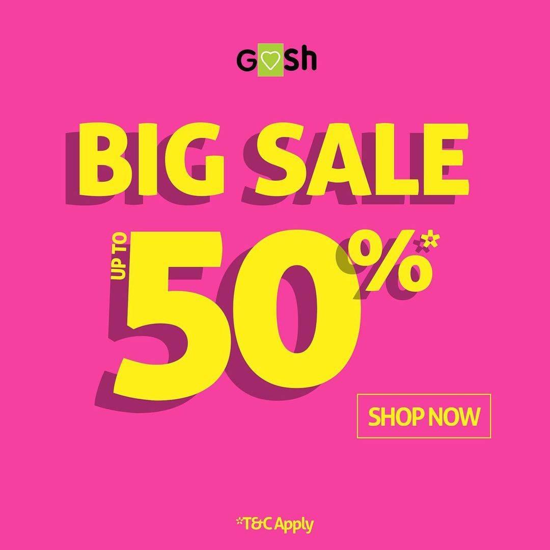 Diskon Gosh Big Sale Up To 50% Off