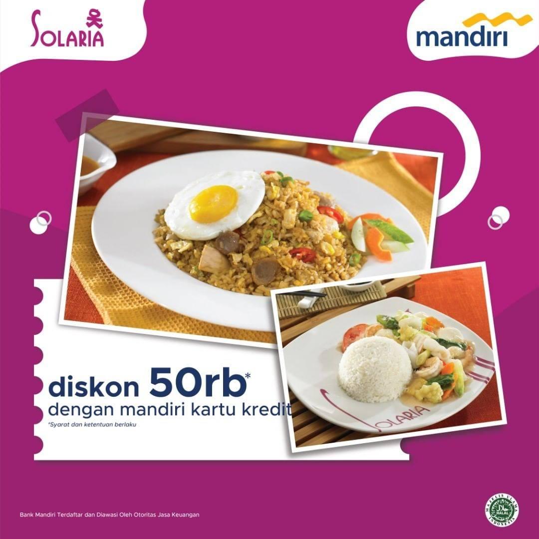 Diskon Solaria Diskon Rp. 50.000 Dengan Kartu Kredit Mandiri