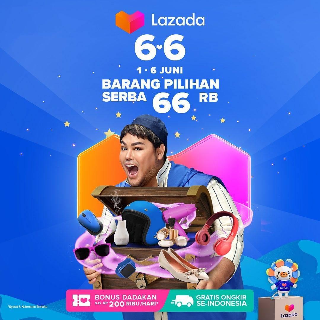 Diskon Lazada Promo 6.6 Barang Pilihan Serba Rp. 66.000