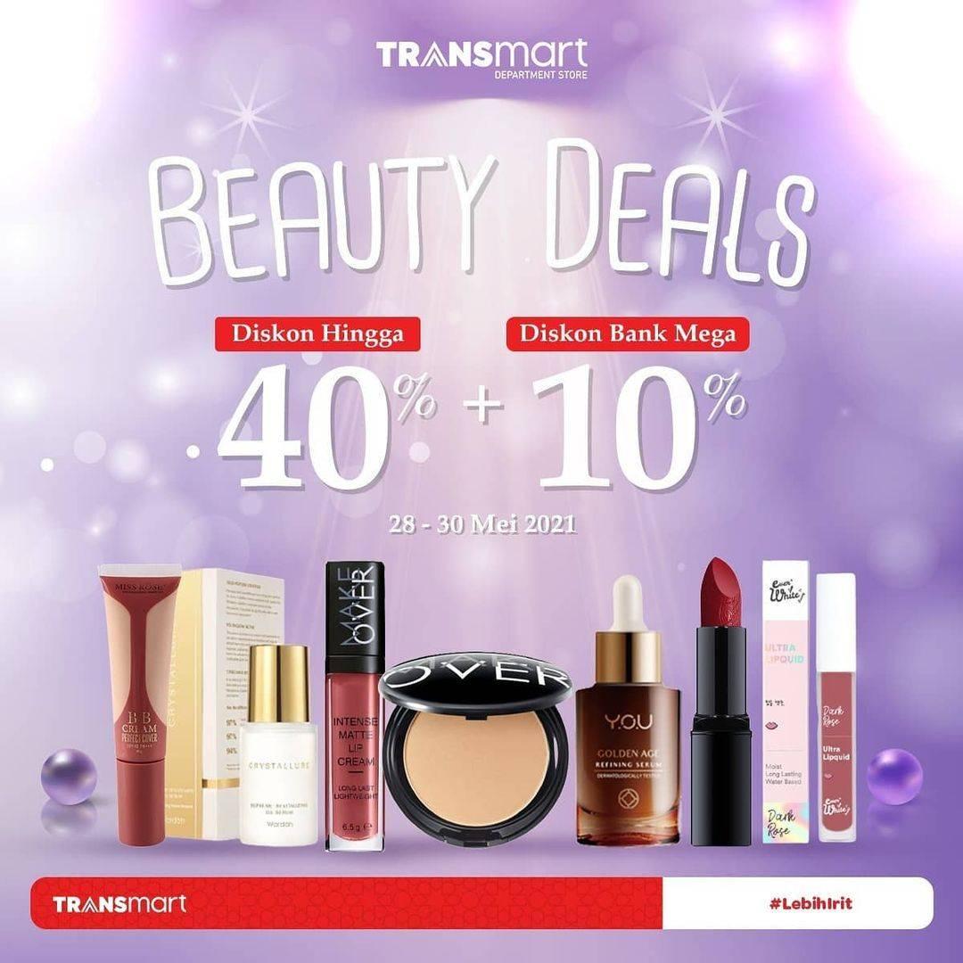 Diskon Transmart Carrefour Beauty Deals Diskon Hingga 40% + Extra 10%