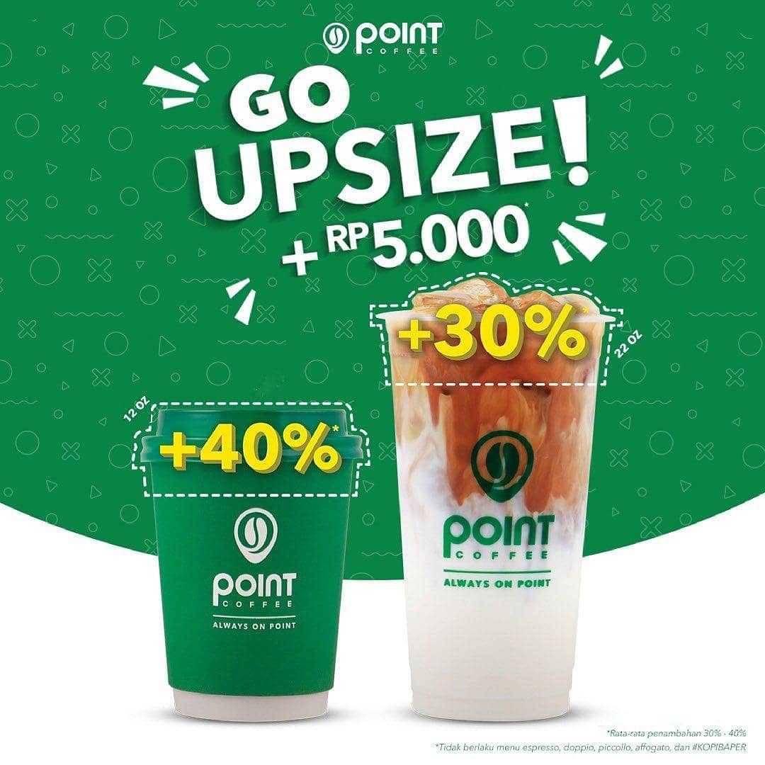 Promo diskon Point Coffee Discount 50% Off Coffee Or Matcha