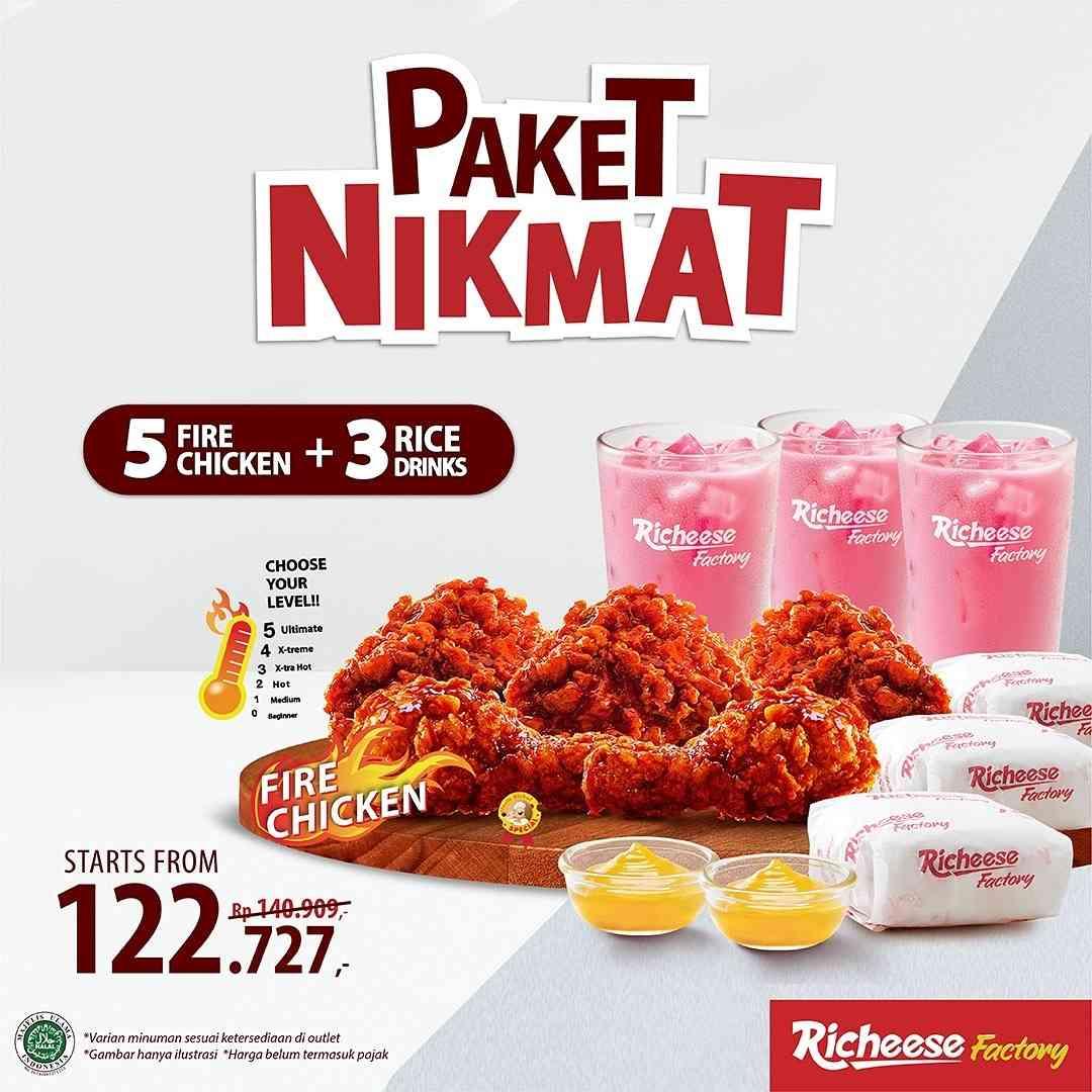 Diskon Richeese Factory Paket Nikmat Mulai Dari Rp. 59Ribuan