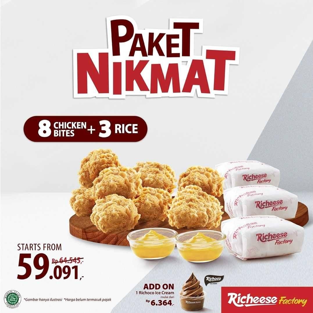 Promo diskon Richeese Factory Paket Nikmat Mulai Dari Rp. 59Ribuan