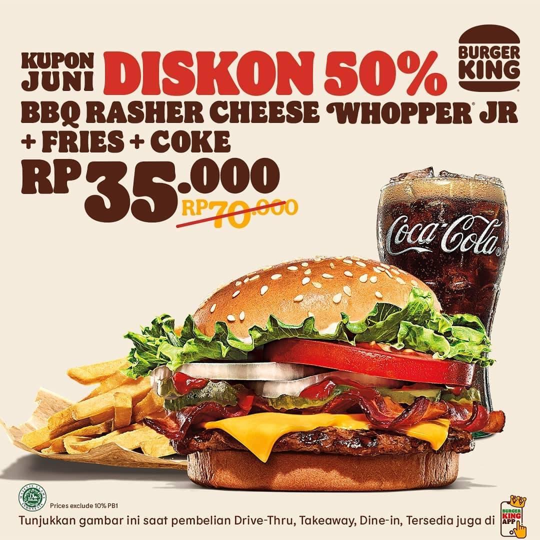 Diskon Burger King Kupon Diskon 50% Bulan Juni