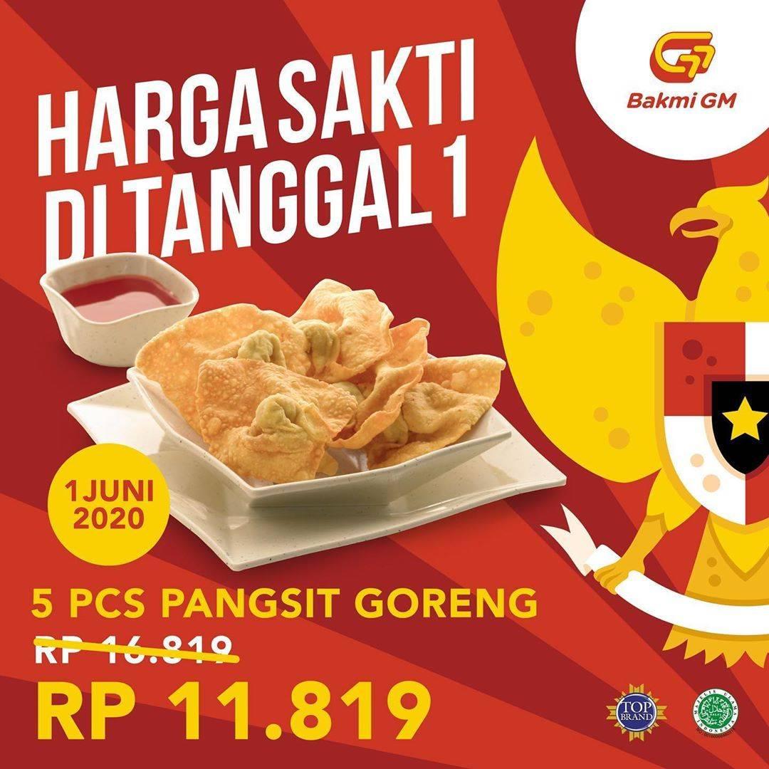 Diskon Promo Bakmi GM Hari Pancasila Dapatkan Harga Spesial Untuk 5 Pcs Pangsit Hanya Rp. 11.819