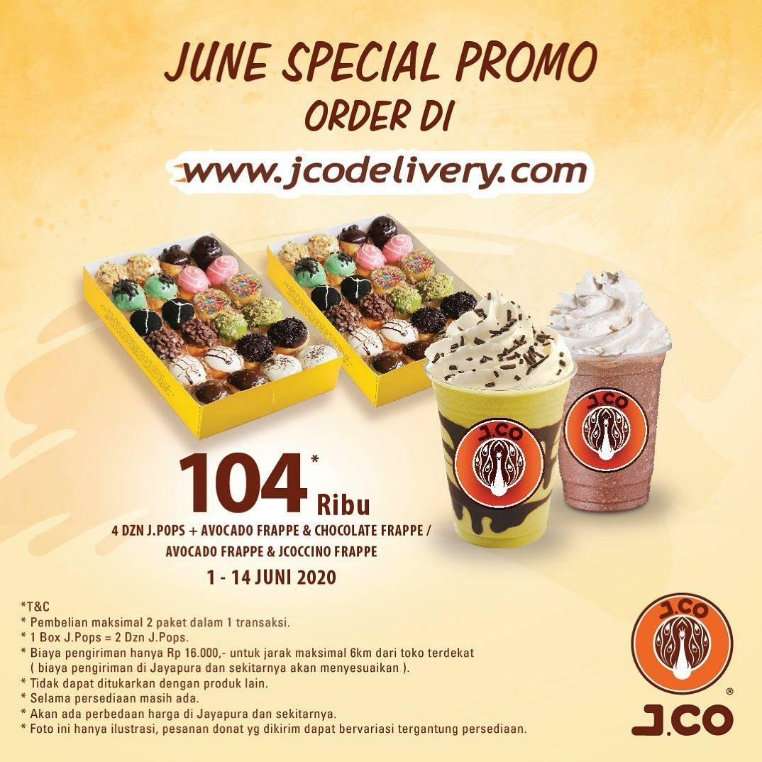 Diskon Promo J.CO Harga Spesial Untuk Paket J.Pops Hanya Rp. 104.000