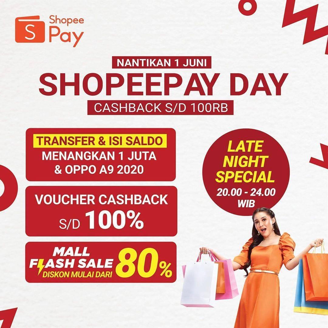 Diskon Promo ShopeePay Day Dapatkan Cashback Hingga Rp. 100.000