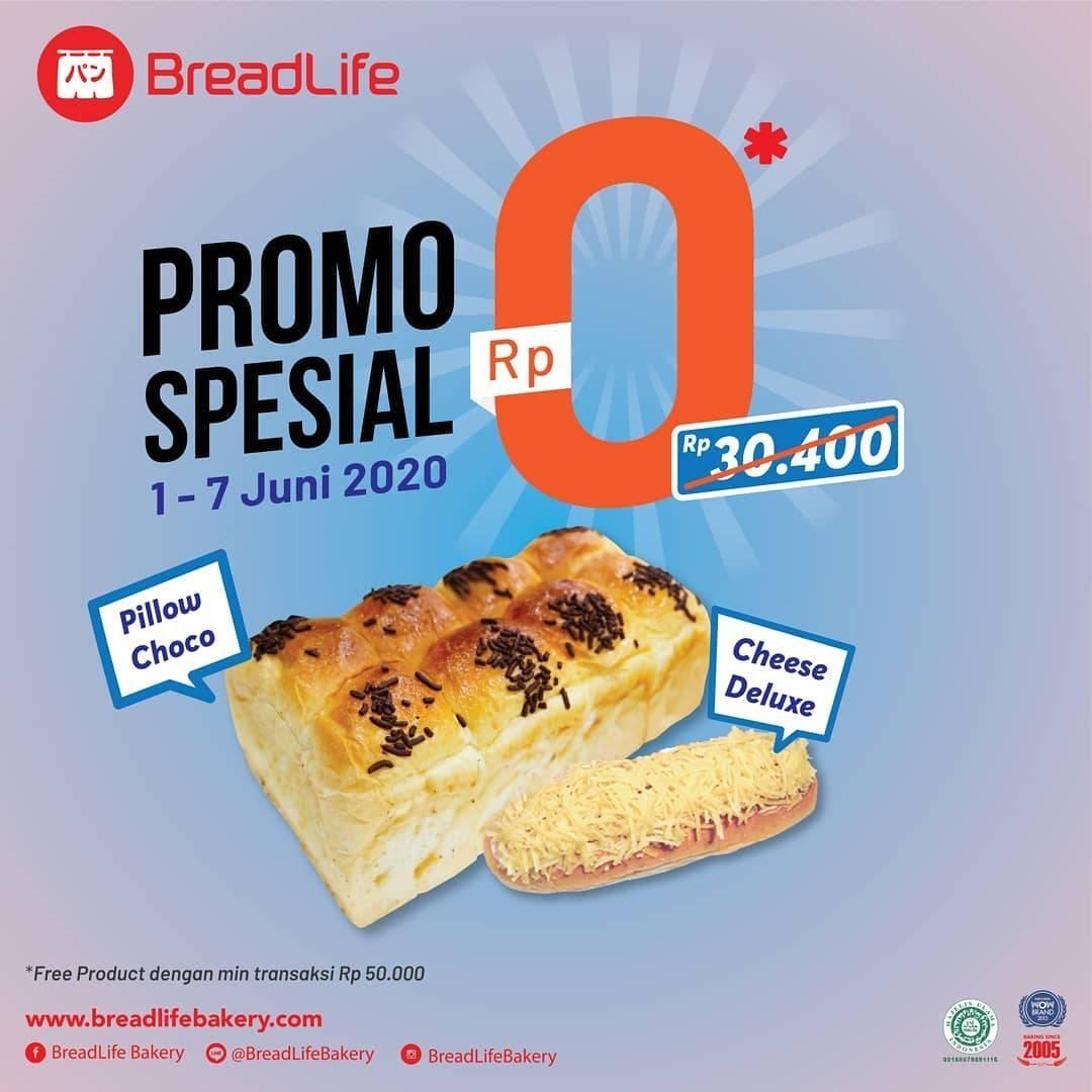 Diskon Promo Breadlife Gratis Pillow Choco & Cheese Deluxe